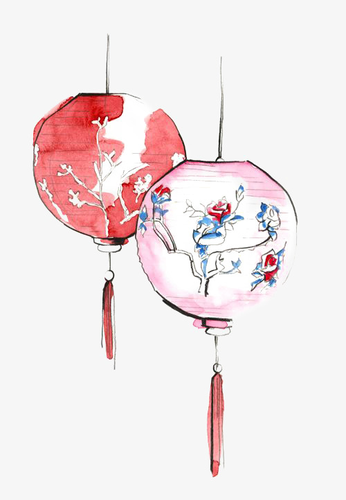 500x722 Chinese Lanterns, Drawing Lantern, Red Lantern, Lantern Decoration