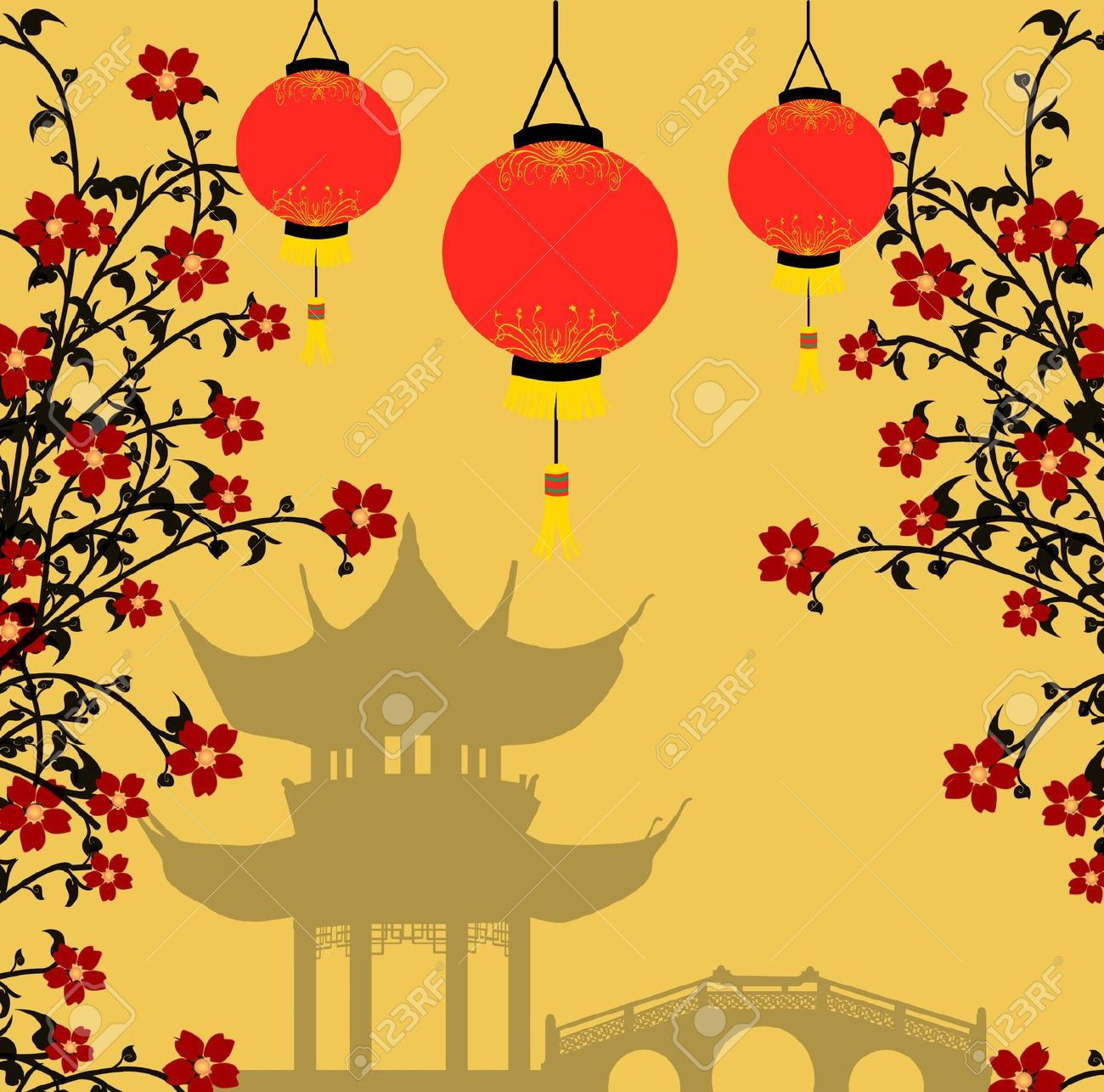 Chinese Lanterns Drawing at GetDrawings.com | Free for personal use ...