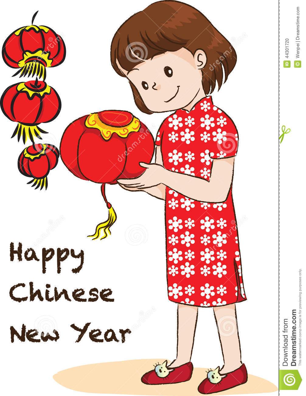 1006x1300 Chinese New Year Drawing Happy Chinese New Year Stock Illustration