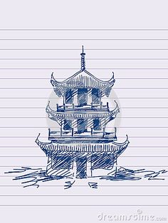 236x314 Pagoda Drawing Chinese Pagoda By ~asuka47