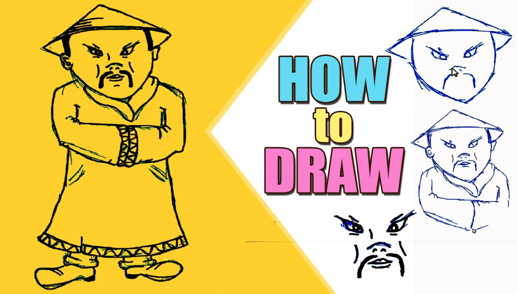 Chinese Person Drawing at GetDrawings.com   Free for personal use ...