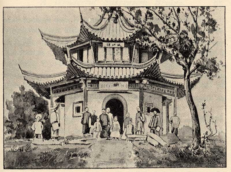 800x596 Chinese Temple Drawing