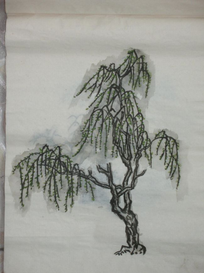 650x867 Pen And Ink Drawing, Tree, Chinese Style By Ju Ping Wang Trees