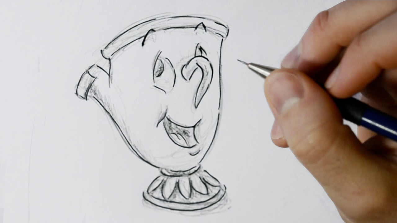 1280x720 How To Draw Chip Potts From Beauty And The Beast
