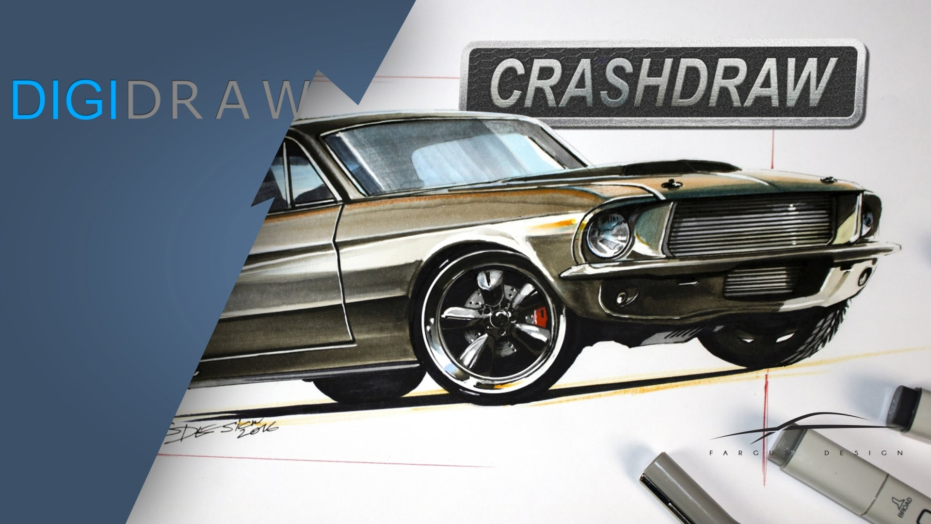 1920x1080 Ford Mustang Chip Foose Style Designsketch, Overhaulin' Style