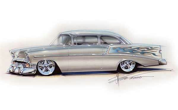 600x372 Chip Foose Drawing Motor Head Chip Foose And Cars