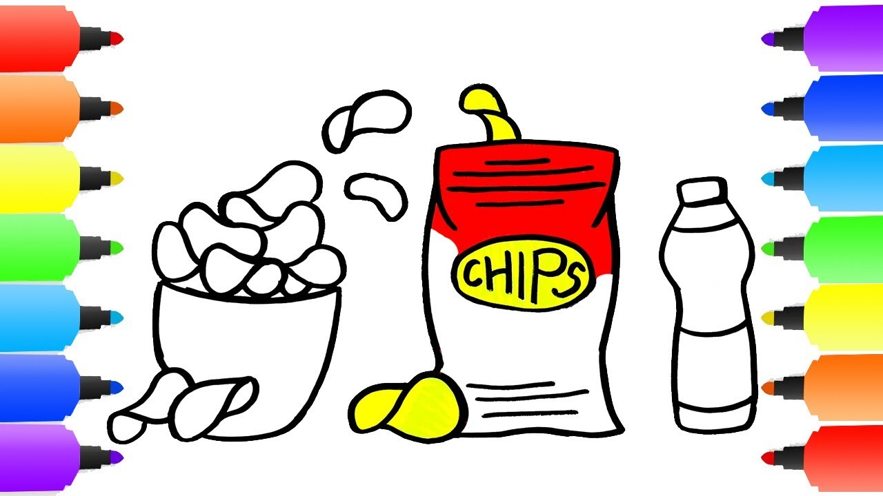 Chips Drawing at GetDrawings.com | Free for personal use Chips ...