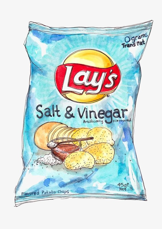 564x797 Potato Chips, Ketchup Potato Chips, Hand Painted Chips, Drawing