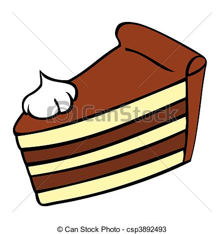 450x470 Chocolate Cake Slice. Vectors