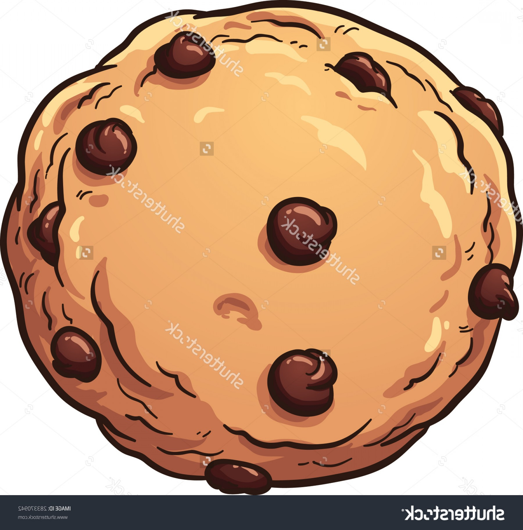 1800x1824 Chocolate Chip Cookie Drawing Free Stock Vector Cookies