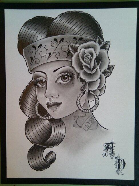 486x648 Chola Girl Drawing
