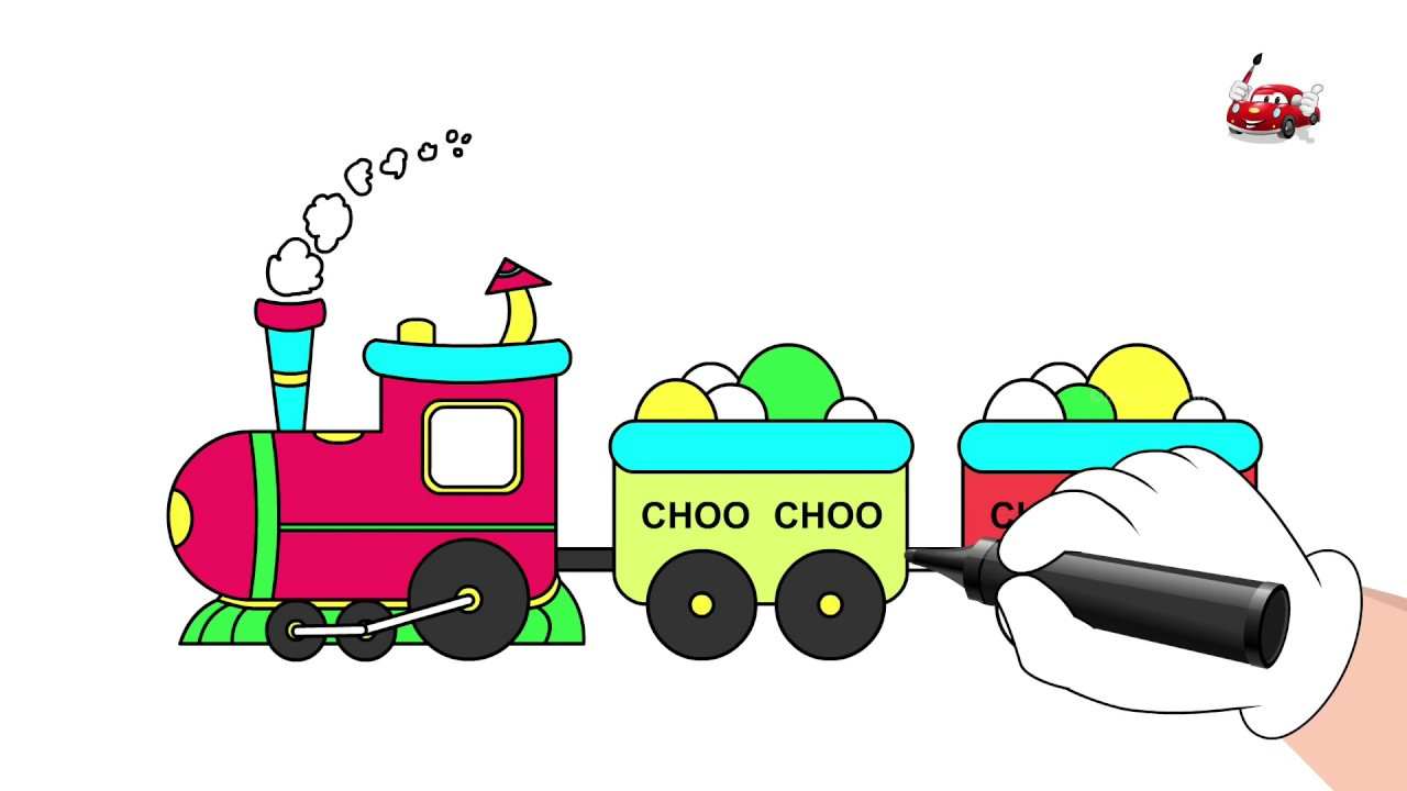 1280x720 Choo Choo Train Drawing And Coloring Book Pages For Kids