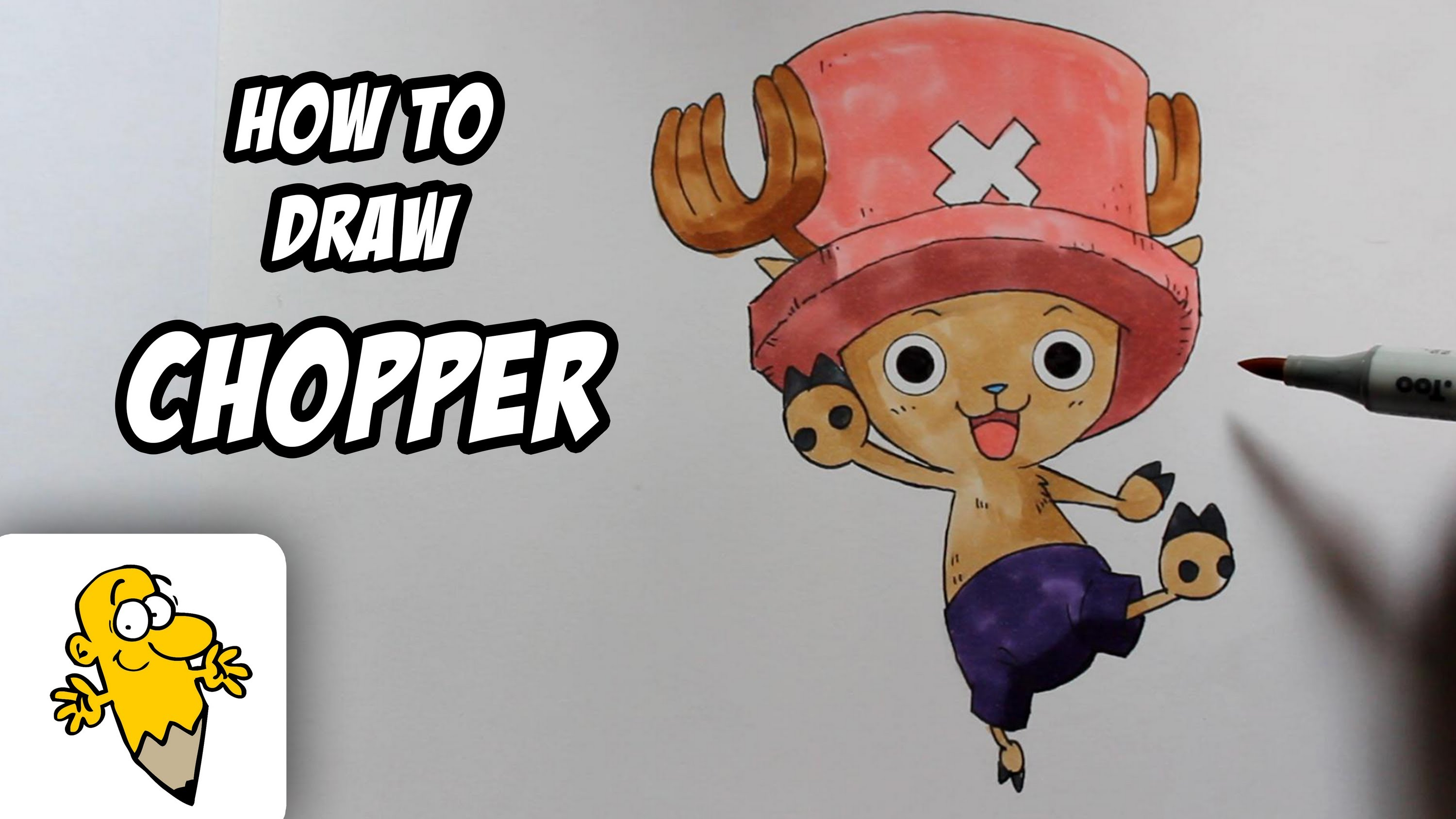3000x1688 How To Draw Tony Chopper [One Piece] Drawing Tutorial