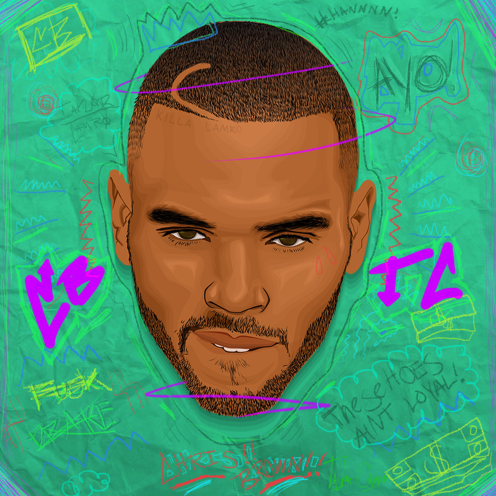 1000x1000 Chris Brown Vector Art By Taylor Camro Cartoon Artwork By