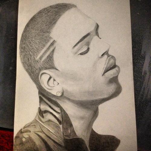 500x500 Chris Brown Drawing