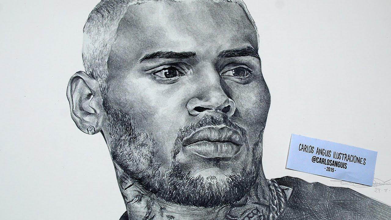 1280x720 Drawing Chris Brown