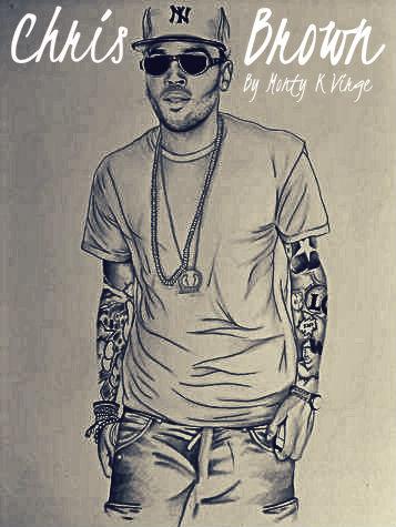357x475 Drawing Chris Brown By Montykvirge