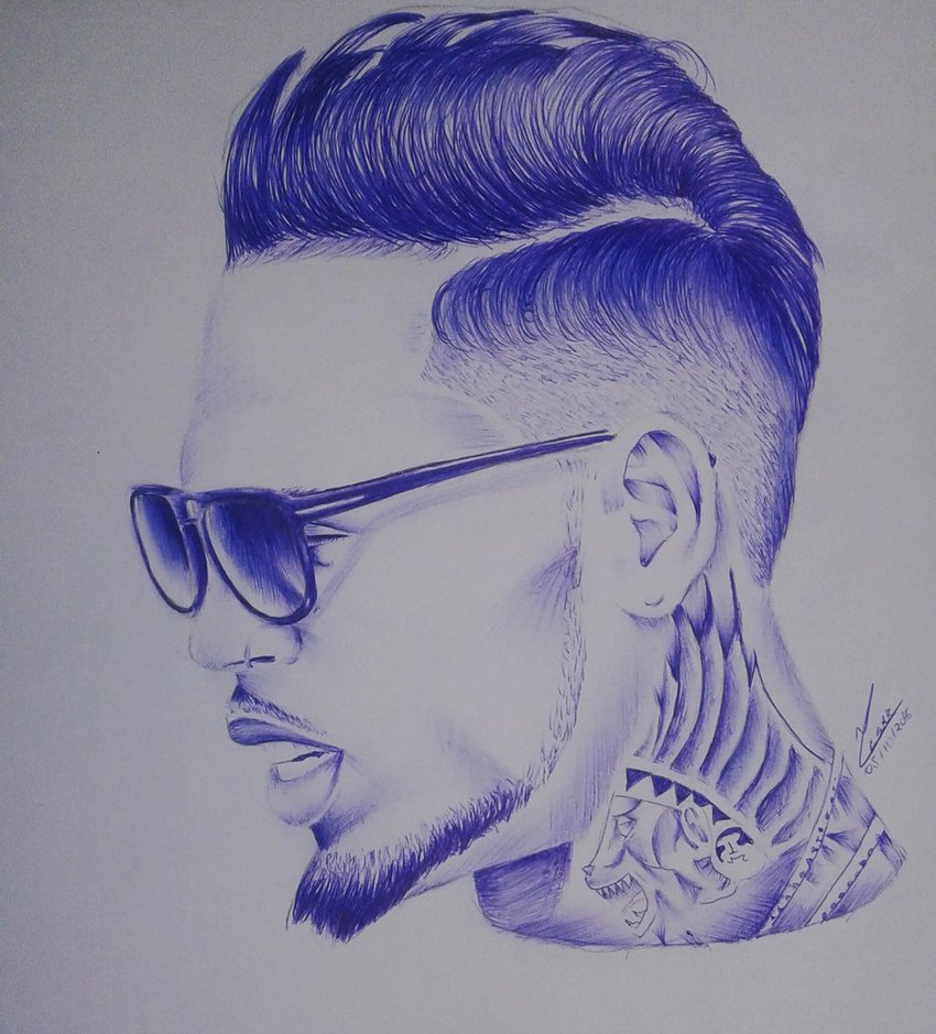 850x939 Drawing Chris Brown By Thecesarsodmg