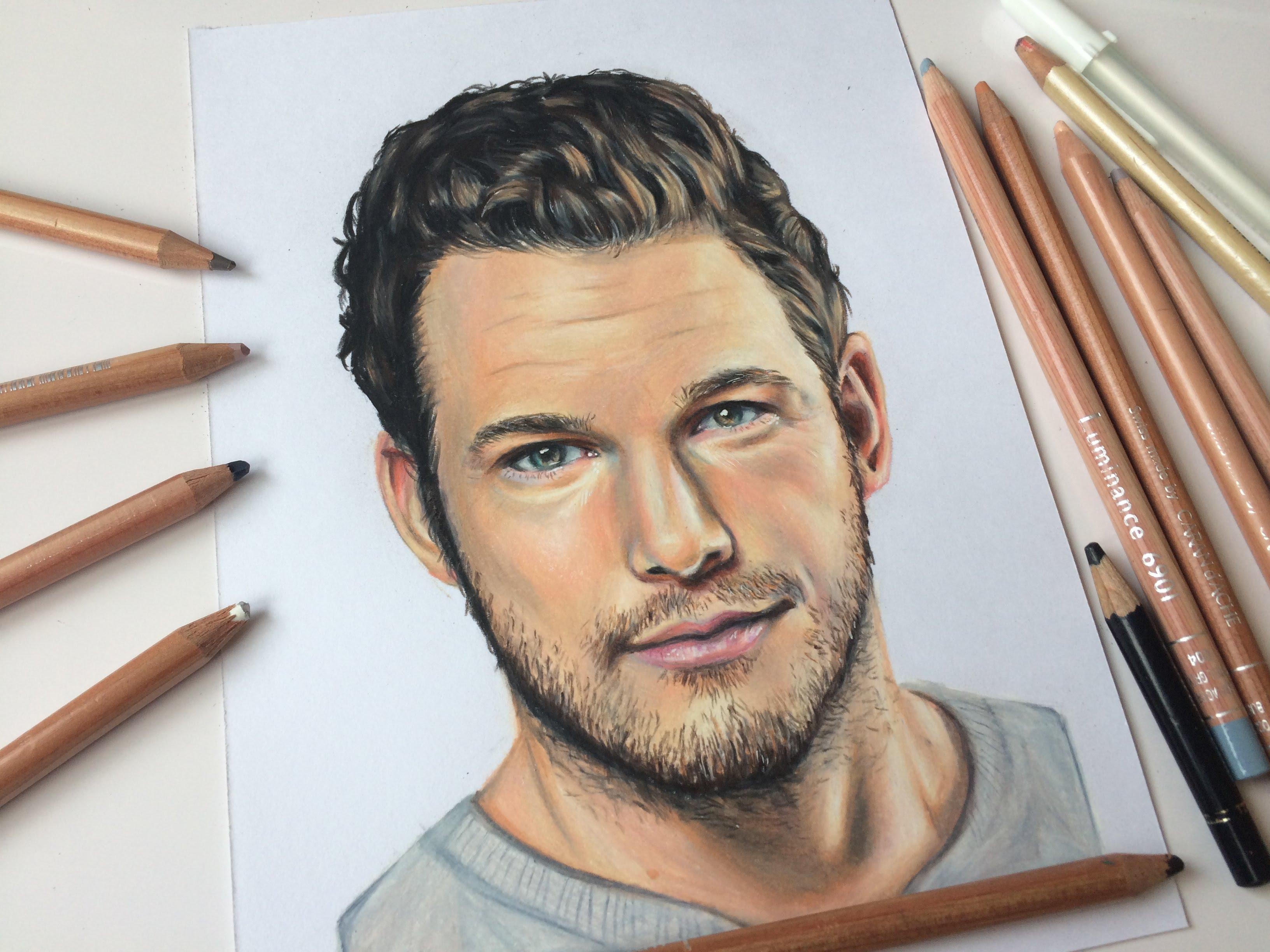 3264x2448 Drawing Chris Pratt