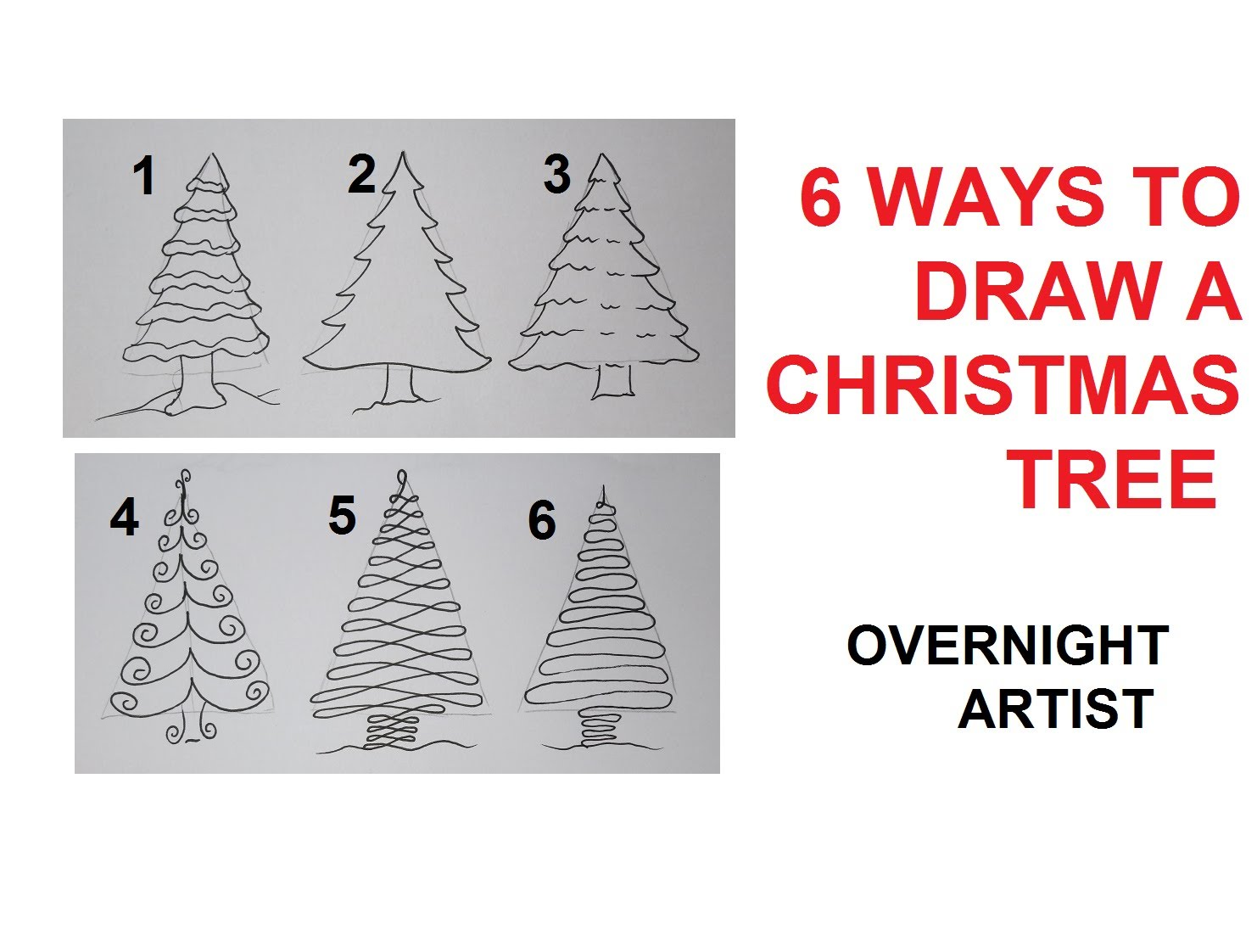1482x1122 How To Draw Christmas Trees