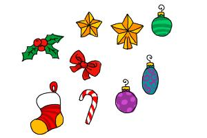 300x200 How To Draw Christmas Decorations