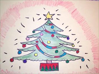 350x260 How To Draw Christmas Tree