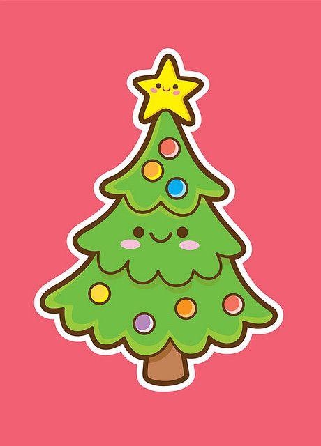 460x640 Kawaii Christmas Tree Kawaii, Christmas Tree And Illustrations