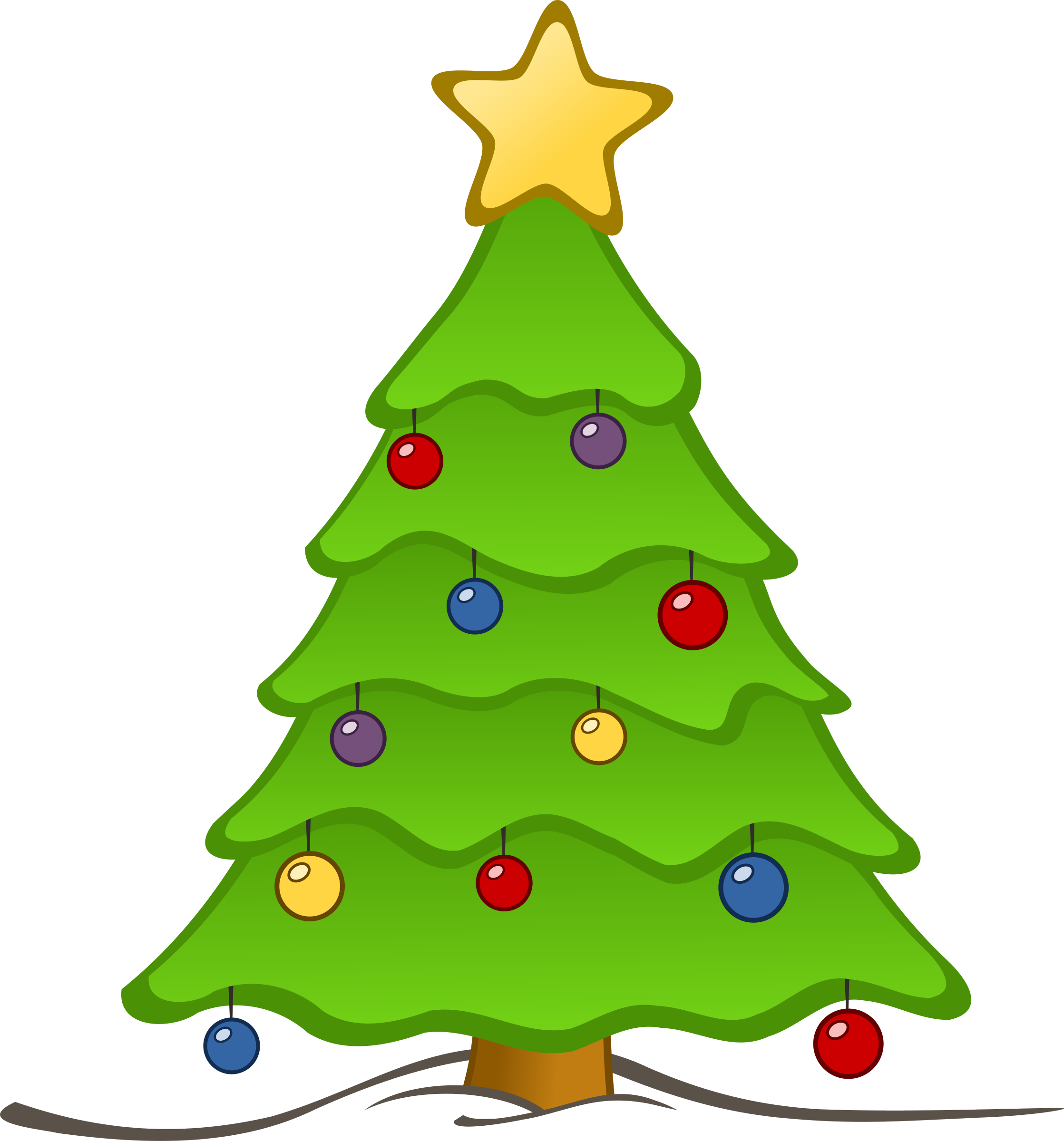 Chrismas Tree Drawing at GetDrawings.com | Free for personal use ...