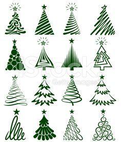 236x278 vector christmas trees good inspirations for drawing Christmas