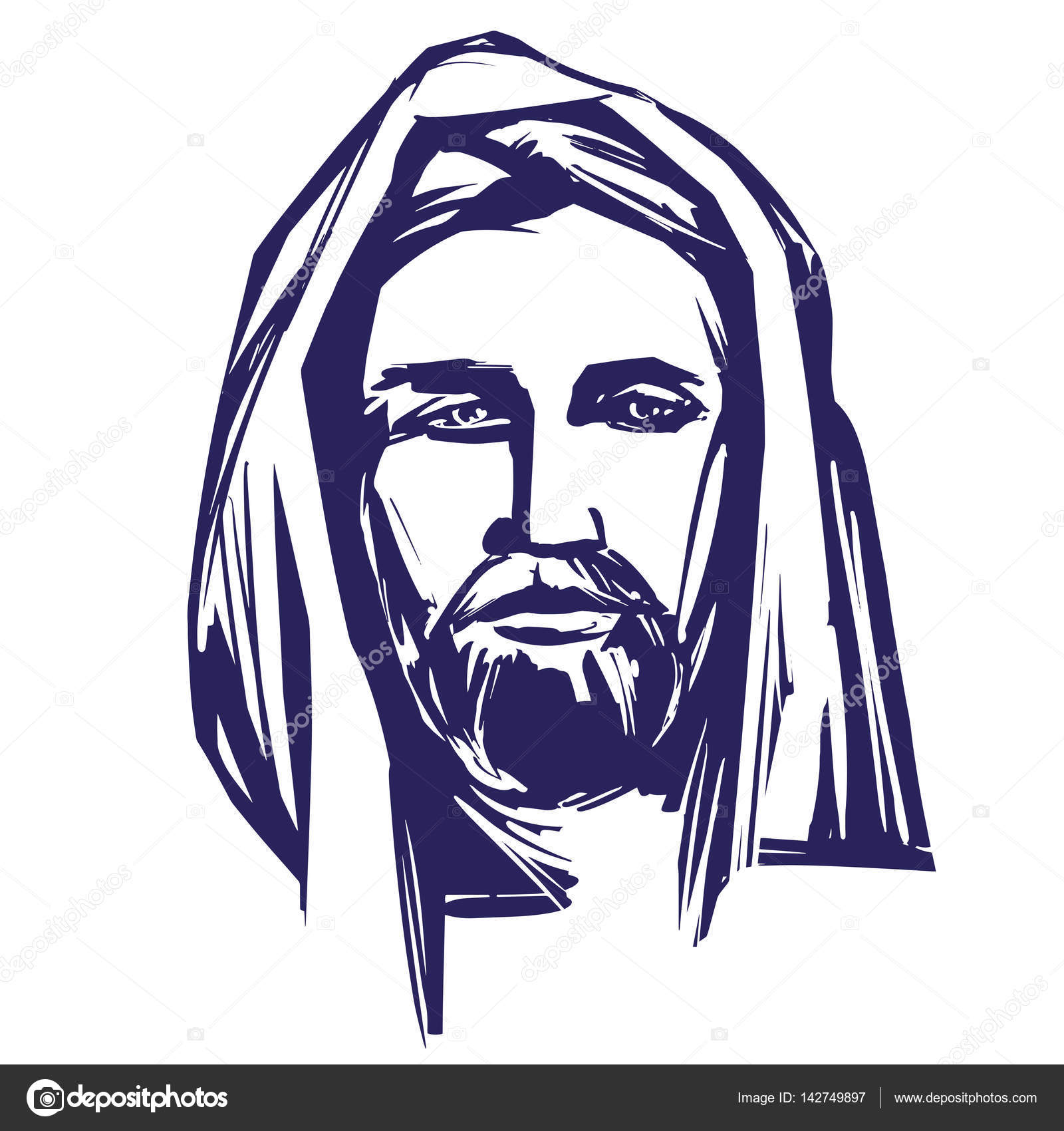 1600x1700 Jesus Christ, The Son Of God , Symbol Of Christianity Hand Drawn