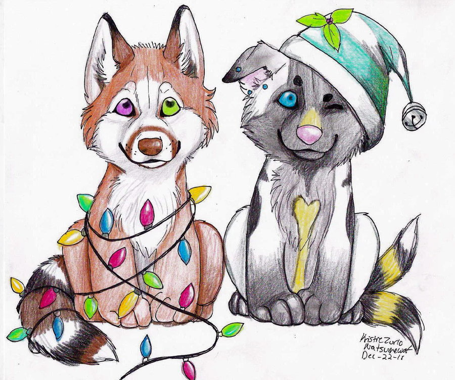 Christmas Animal Drawing at GetDrawings.com | Free for personal use ...