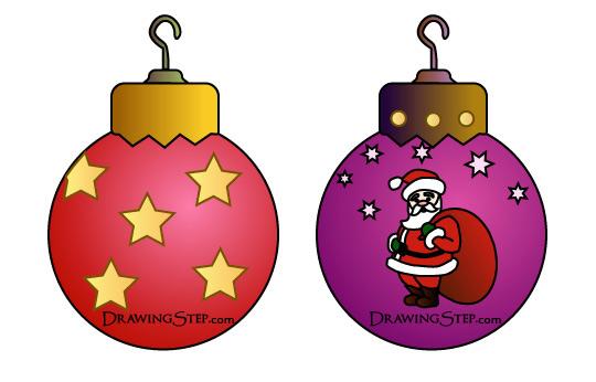 540x346 Draw Vintage Christmas Ornaments Balls