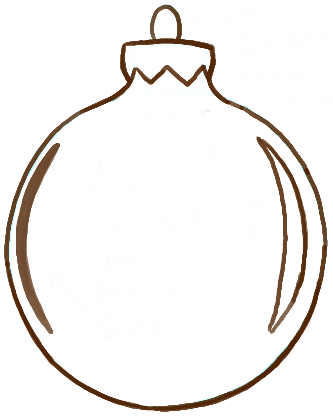 333x416 How To Draw Christmas Tree Ornaments With Easy Steps