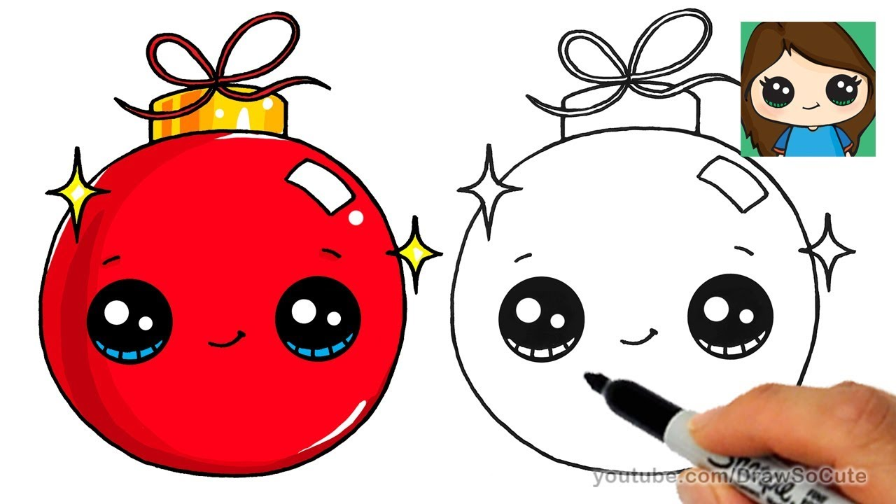 1280x720 How To Draw A Christmas Ornament Easy And Cute