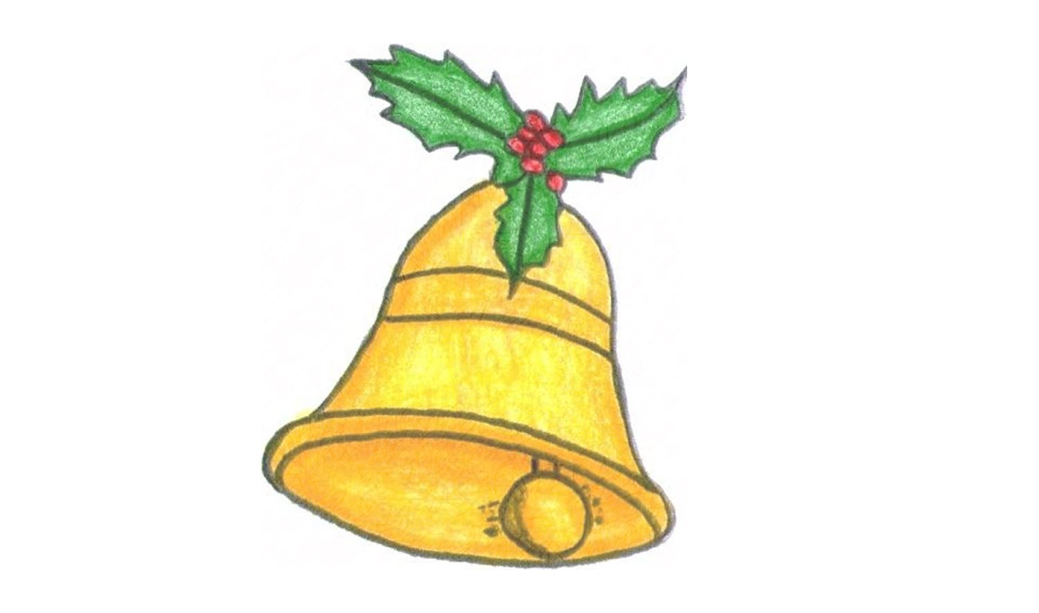 1500x886 How To Draw A Christmas Bell (Ornament)