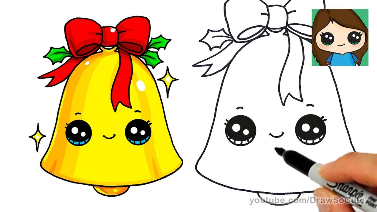 Christmas Bell Drawing at GetDrawings.com | Free for personal use ...