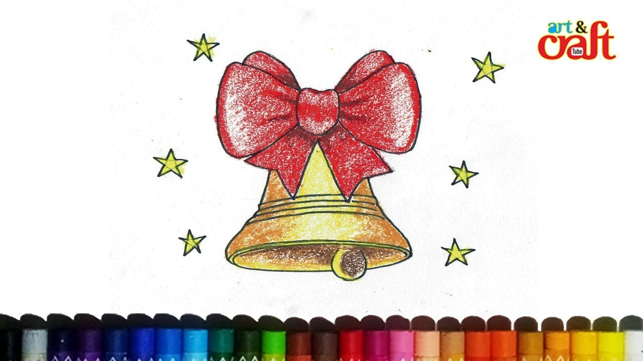 1280x720 How To Draw Christmas Bells , Jingle Bells Drawing Step By Step