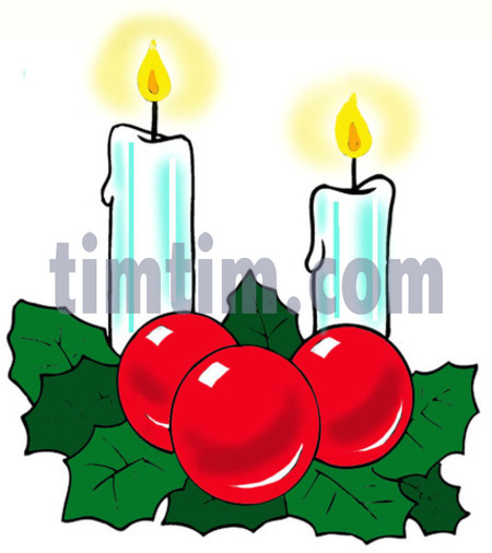 450x506 Free Drawing Of 2 Christmas Candles From The Category Christmas