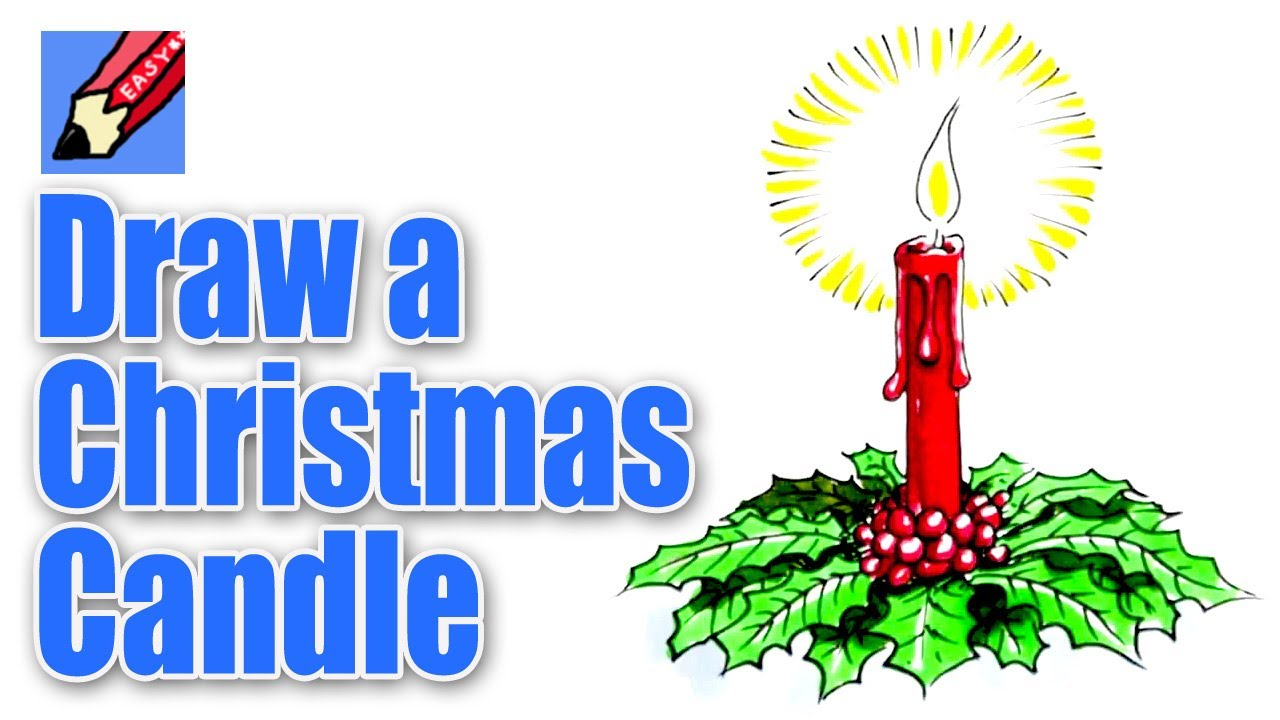 1280x720 How To Draw A Christmas Candle Decoration