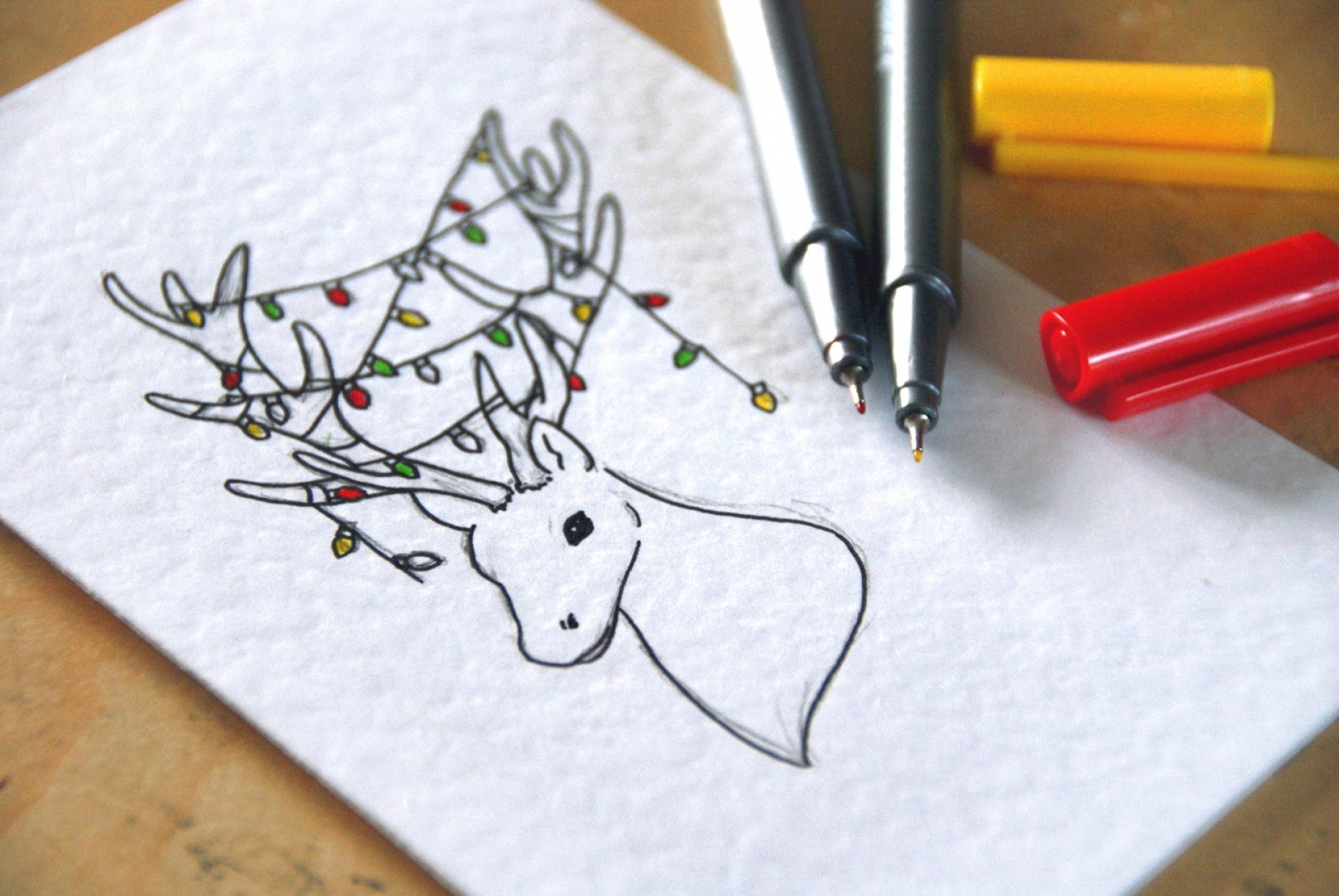 Christmas Card Drawing At Getdrawings Free For Personal Use