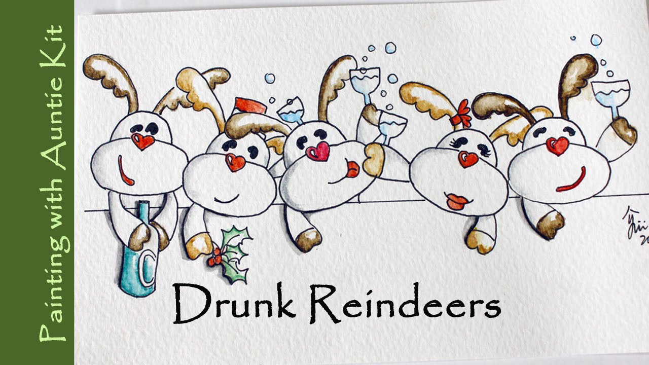 Reindeer Christmas Cards Ideas.Christmas Card Drawing At Getdrawings Com Free For