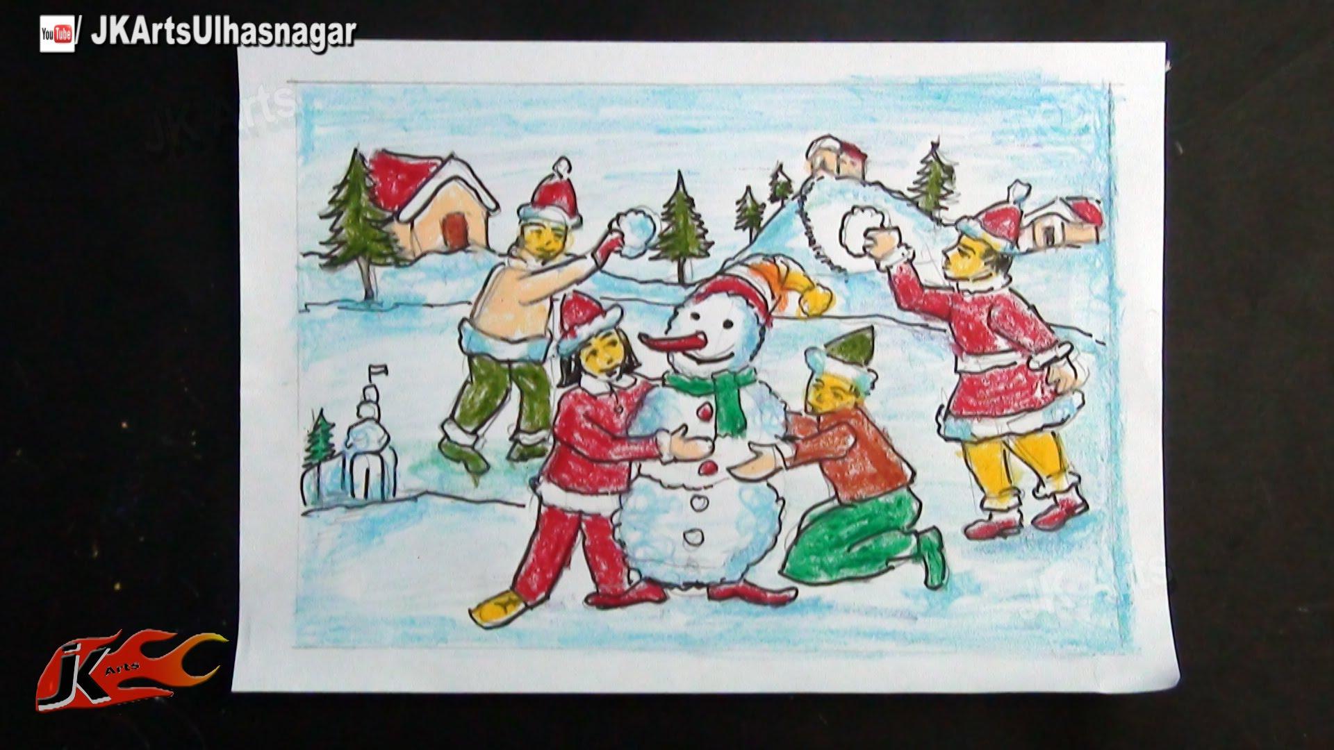 1920x1080 DIY Easy Christmas Drawings How To Draw JK Arts 752