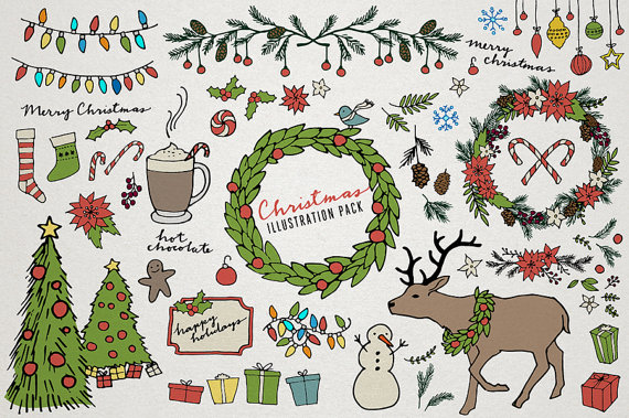 Line Drawing Xmas : Christmas clipart drawing at getdrawings free for personal