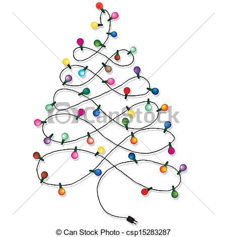 450x470 Christmas Tree Lights Clipart Fun For Christmas