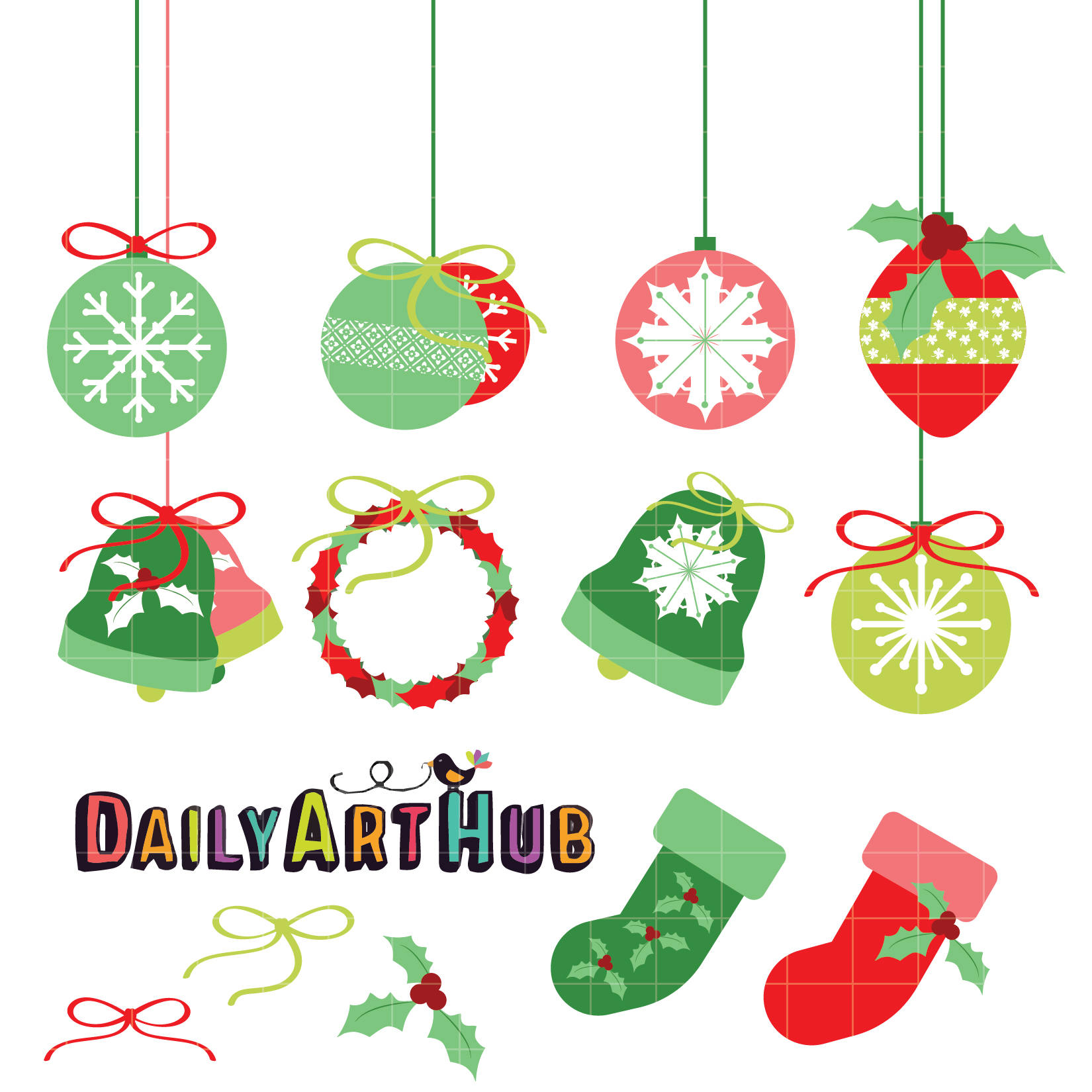 1650x1650 Christmas Decor Drawing Decorations Clipart Merry