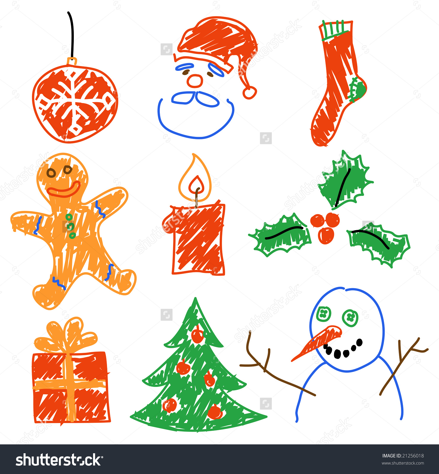1481x1600 Hand Drawing Christmas Decorations Santa Snowman Cookie And Save