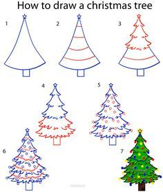 236x278 How To Draw A Christmas Tree Step By Step Drawing Tutorial