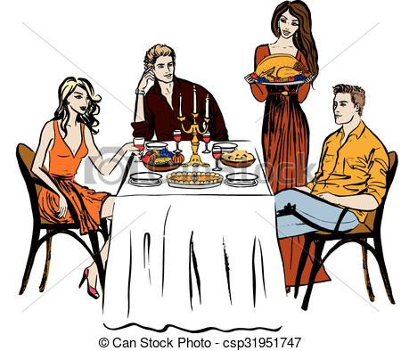 450x394 Thanksgiving Or Christmas Dinner And Woman With Turkey. Hand