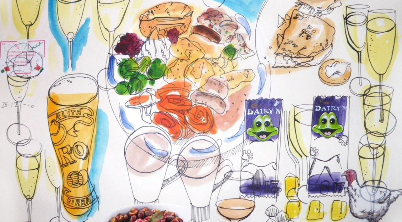 1280x706 The Food Illustrator Project Christmas Dinner