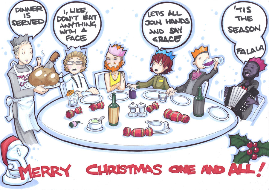 900x636 Christmas Dinner By Prisonsuit Rabbitman